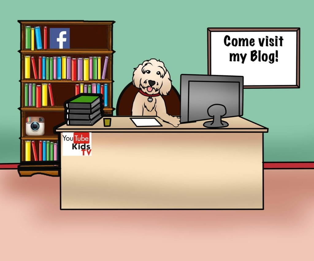 picture of cartoon apple the golden doodle office for blogging