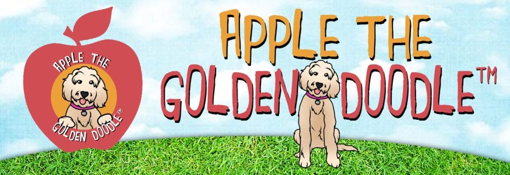 Picture of apple the golden doodle™ banner