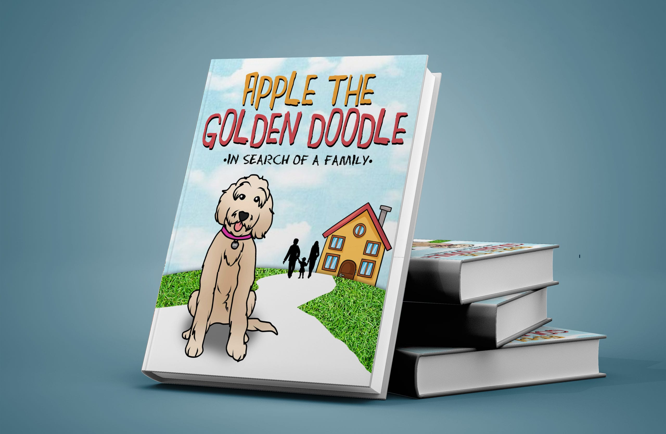 picture of 3d book cover of apple the golden doodle