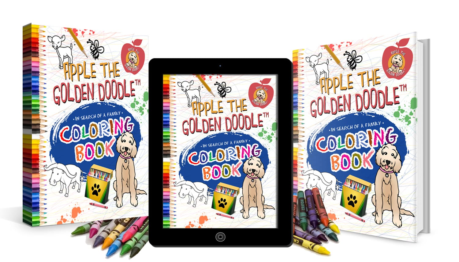 Apple the Golden Doodle In Search of a Family Coloring Book