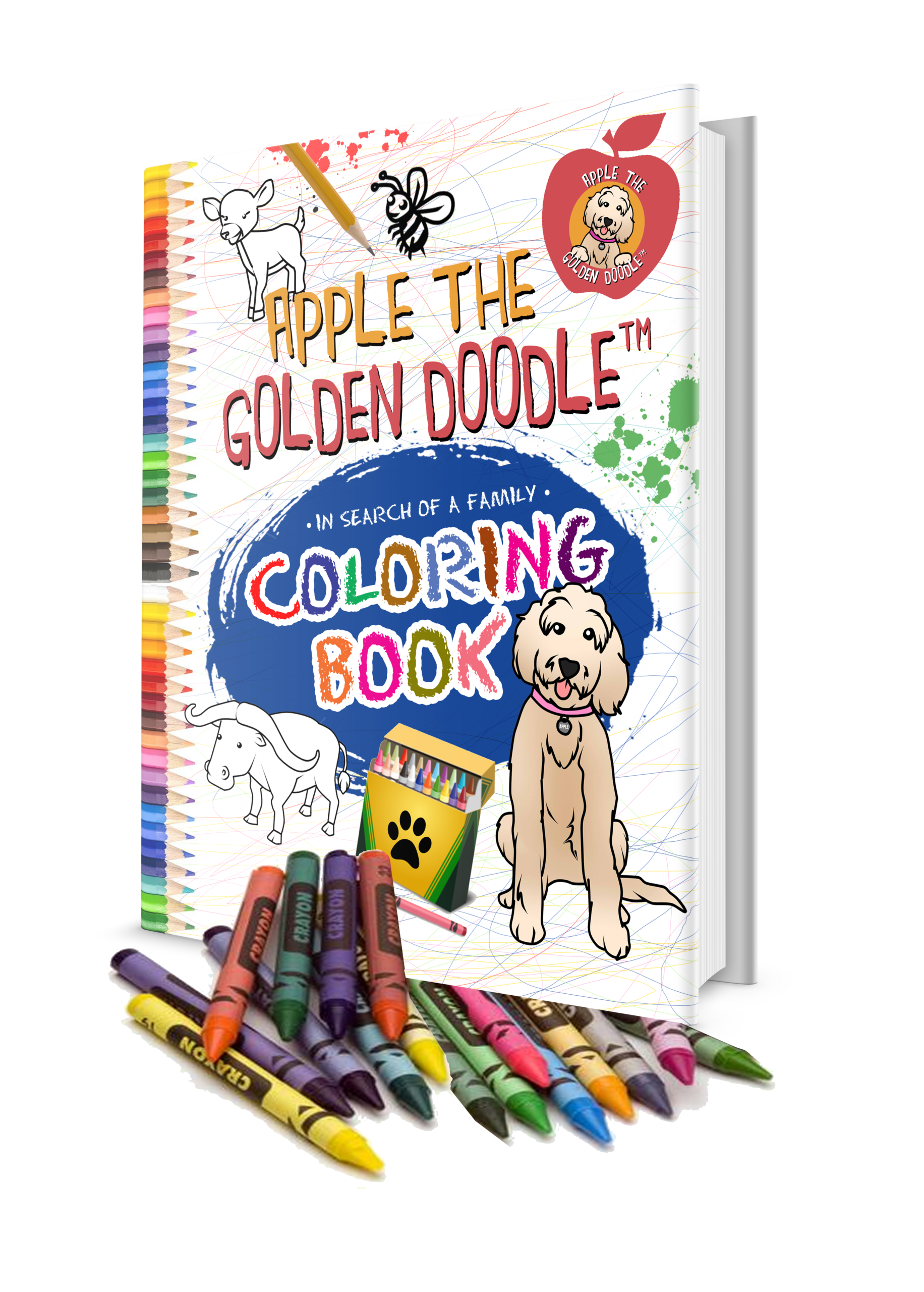 picture of apple the golden doodle coloring book